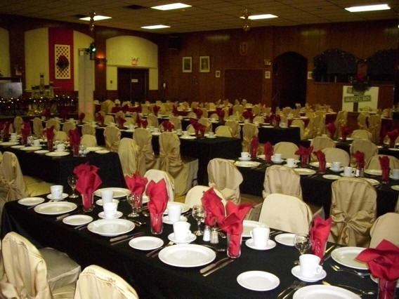 wedding decor black red and gold
